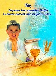 najljepše čestitke za prvu svetu pričest Krštenja, Prva pričest, Sv. potvrda « Veseli dućan najljepše čestitke za prvu svetu pričest
