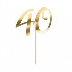 Topper za tortu zlatni 40