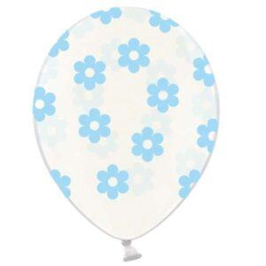 balon prozirni s cvjetićima