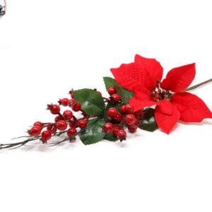 božićna grana bobice i cvijet