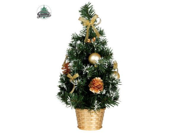 Božićno drvce ukrašeno zlatno