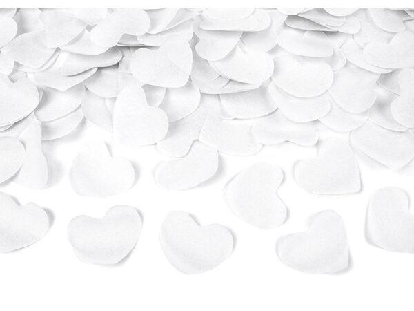 konfeti bijela srca