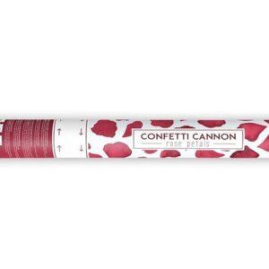 konfeti u tubi crvene latice