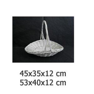pletena košara bijela