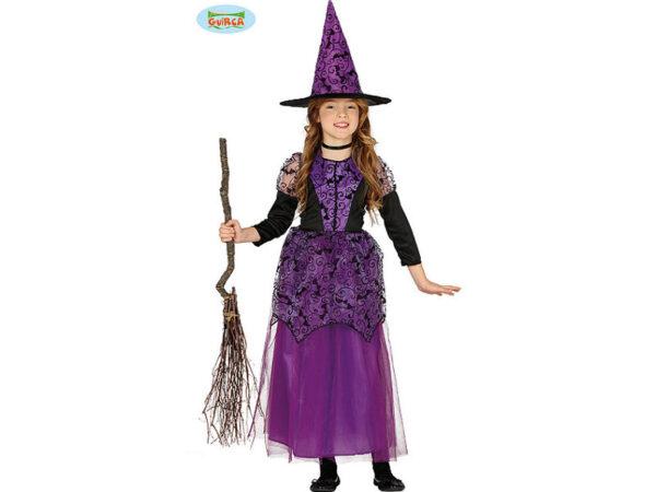 dječji kostim ljubičasta vještica