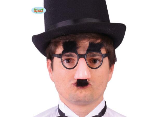 Naočale i nos s brkovima i obrvama