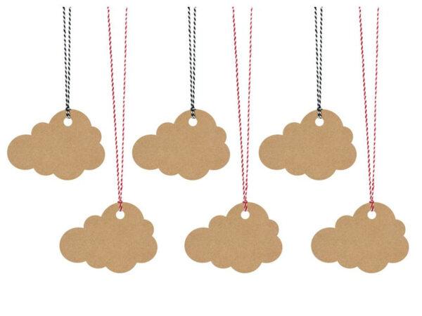 oznake za poklone oblaci