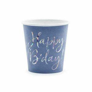 papirnata čaša mornarsko plava happy b'day