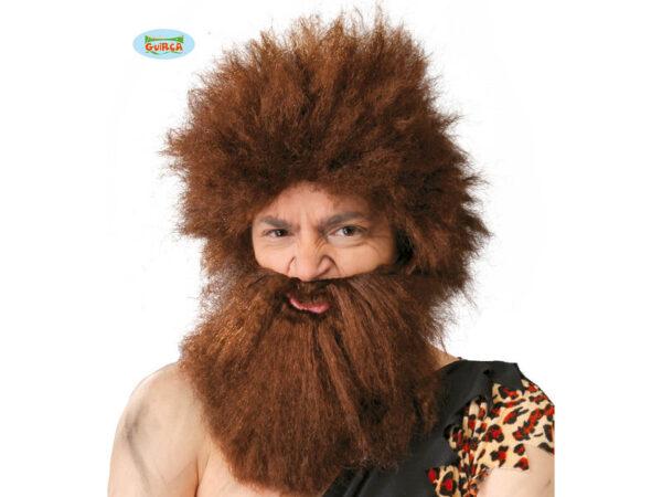 perika i brada špiljski čovjek