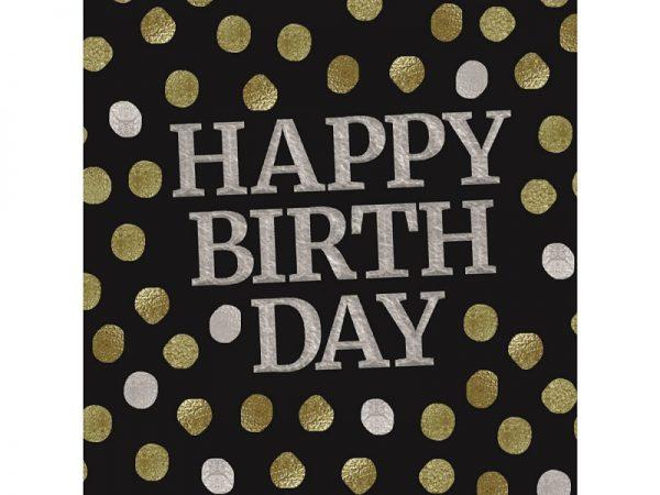 crne salvete happy birthday