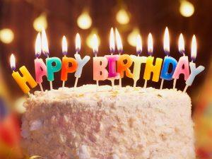 svjećice happy birthday