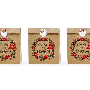 božićne vrećice papirnate